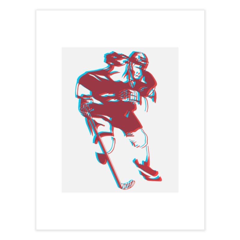 Black Girl Hockey Player with Natural Hair Home Fine Art Print by Black Girl Hockey Club's Artist Shop