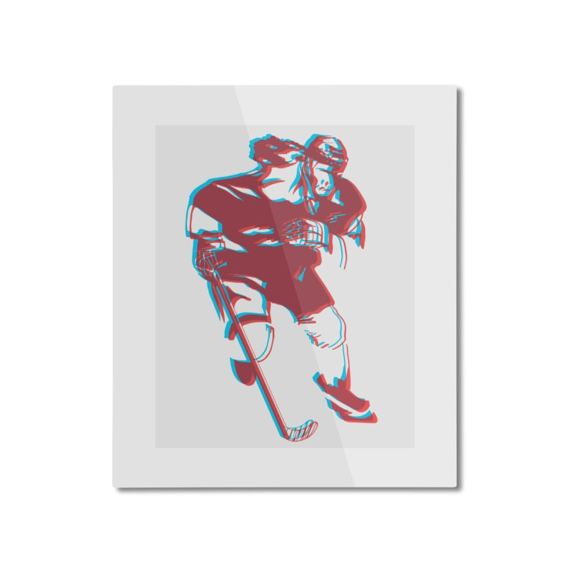 Black Girl Hockey Player with Natural Hair Home Mounted Aluminum Print by Black Girl Hockey Club's Artist Shop