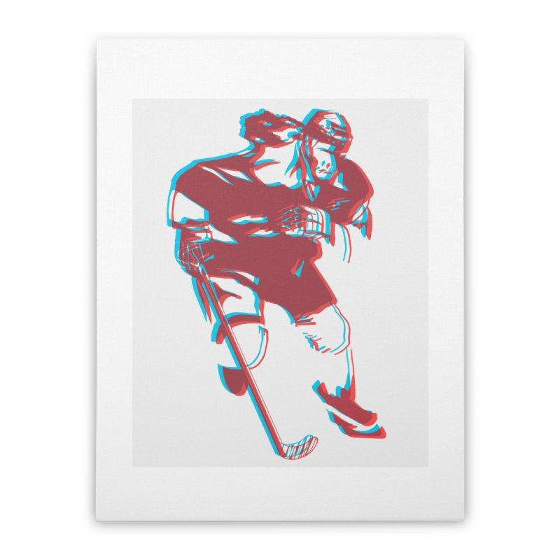 Black Girl Hockey Player with Natural Hair Home Stretched Canvas by Black Girl Hockey Club's Artist Shop