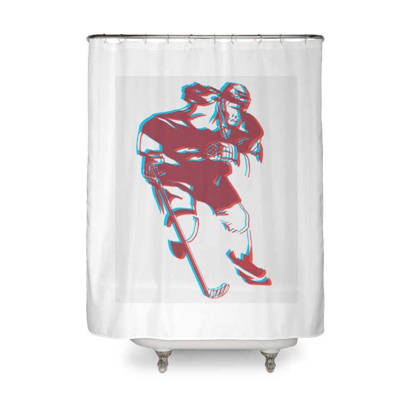 Black Girl Hockey Player with Natural Hair Home Shower Curtain by Black Girl Hockey Club's Artist Shop