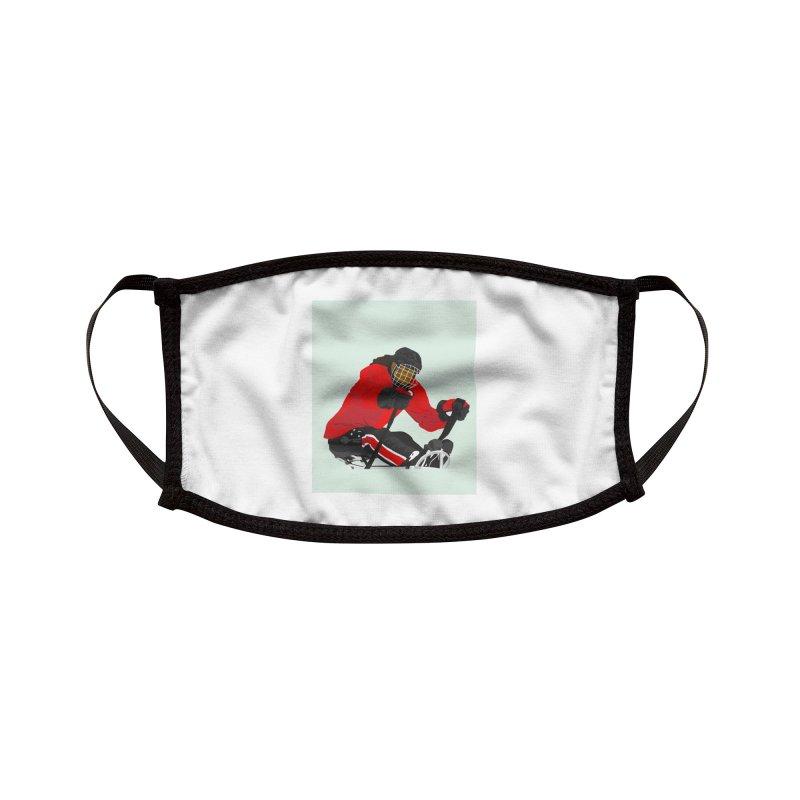 Black Girl Sled Hockey Player Accessories Face Mask by Black Girl Hockey Club's Artist Shop