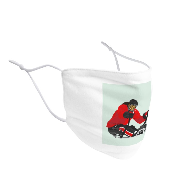 Black Girl Sled Hockey Player Accessories Face Mask by Black Girl Hockey Club's Artist Shop