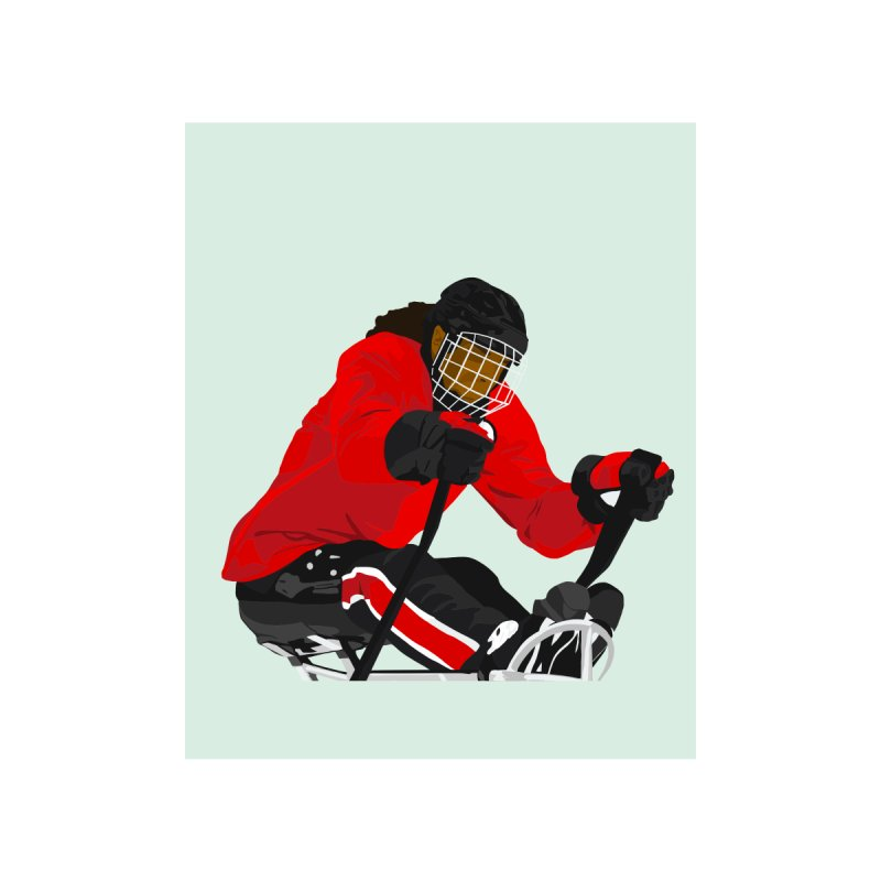 Black Girl Sled Hockey Player Accessories Sticker by Black Girl Hockey Club's Artist Shop