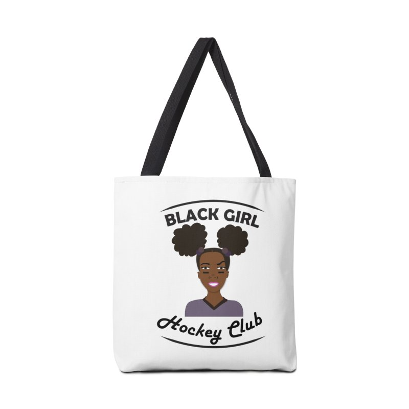 BGHC Official Logo Accessories Tote Bag Bag by Black Girl Hockey Club's Artist Shop