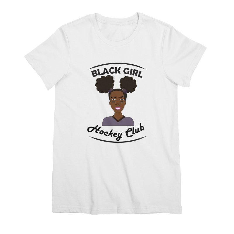 BGHC Official Logo Women's Premium T-Shirt by Black Girl Hockey Club's Artist Shop