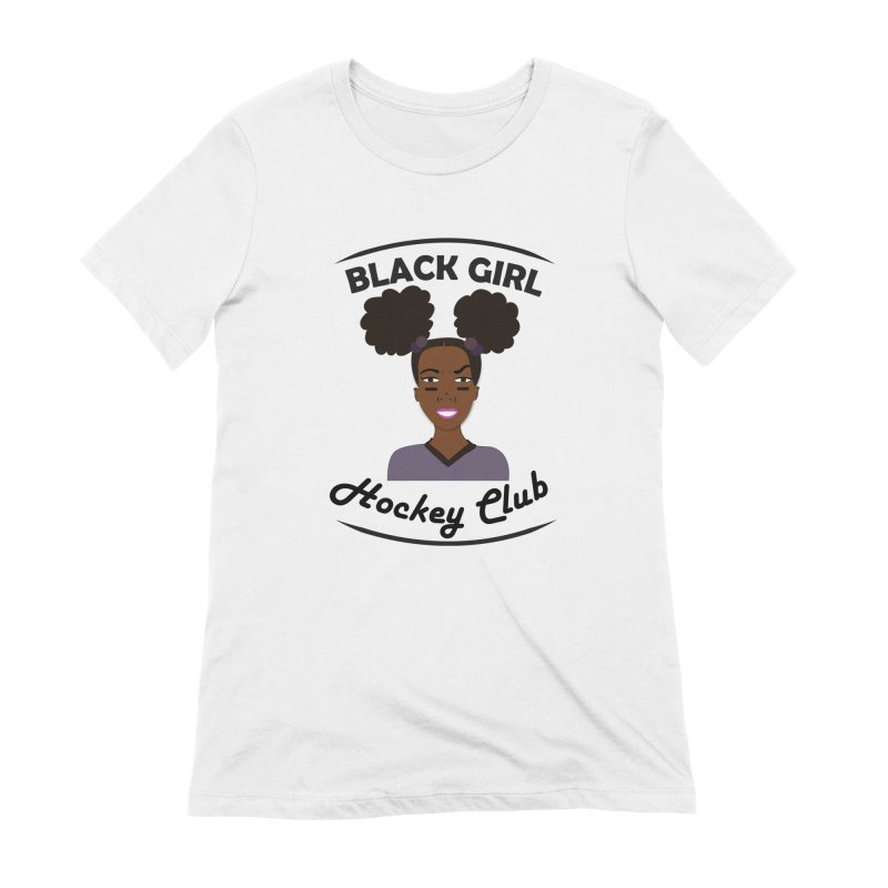 BGHC Official Logo Women's Extra Soft T-Shirt by Black Girl Hockey Club's Artist Shop