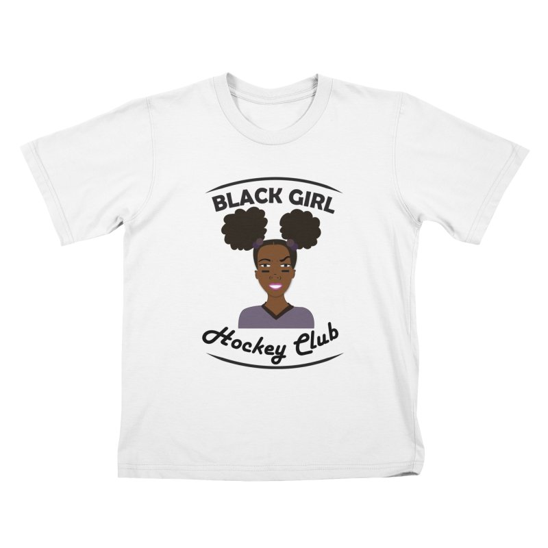 BGHC Official Logo Kids T-Shirt by Black Girl Hockey Club's Artist Shop