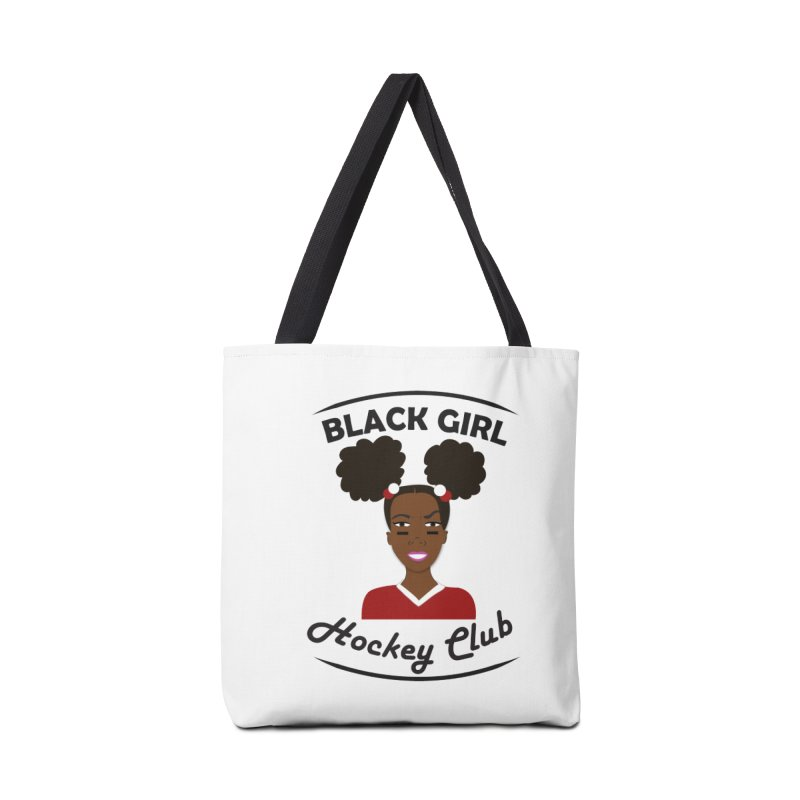 BGHC red/white Accessories Tote Bag Bag by Black Girl Hockey Club's Artist Shop