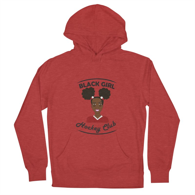 BGHC red/white Men's French Terry Pullover Hoody by Black Girl Hockey Club's Artist Shop