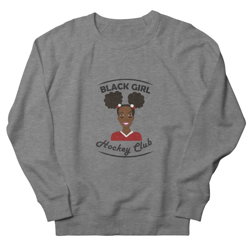 BGHC red/white Men's French Terry Sweatshirt by Black Girl Hockey Club's Artist Shop