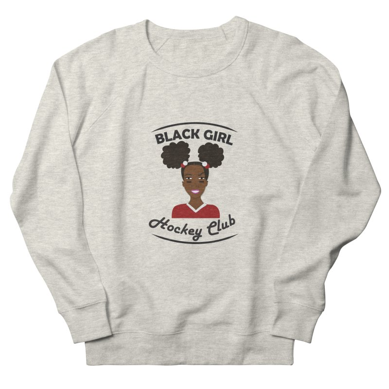 BGHC red/white Men's Sweatshirt by Black Girl Hockey Club's Artist Shop
