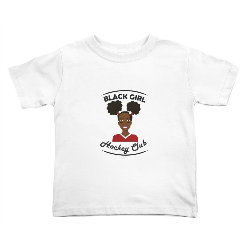 BGHC red/white Kids Toddler T-Shirt by Black Girl Hockey Club's Artist Shop