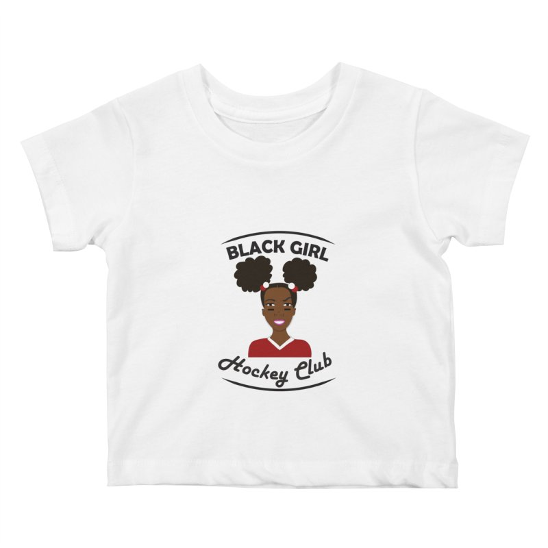 BGHC red/white Kids Baby T-Shirt by Black Girl Hockey Club's Artist Shop