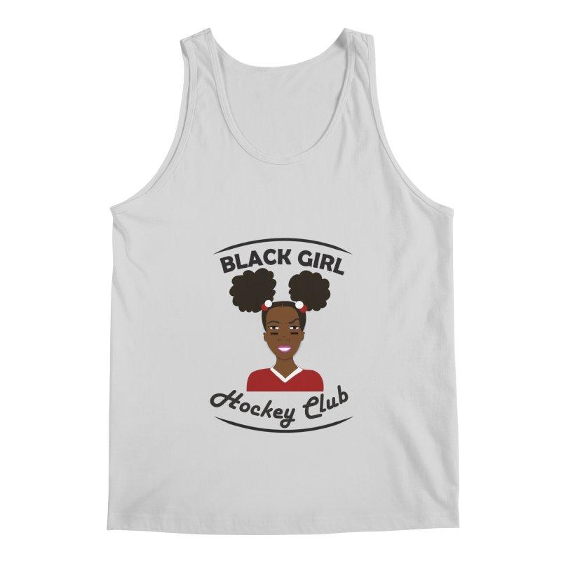 BGHC red/white Men's Tank by Black Girl Hockey Club's Artist Shop