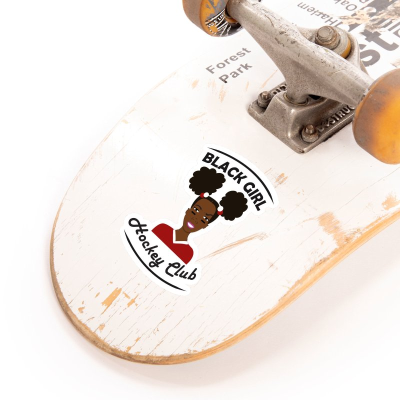 BGHC red/white Accessories Sticker by Black Girl Hockey Club's Artist Shop