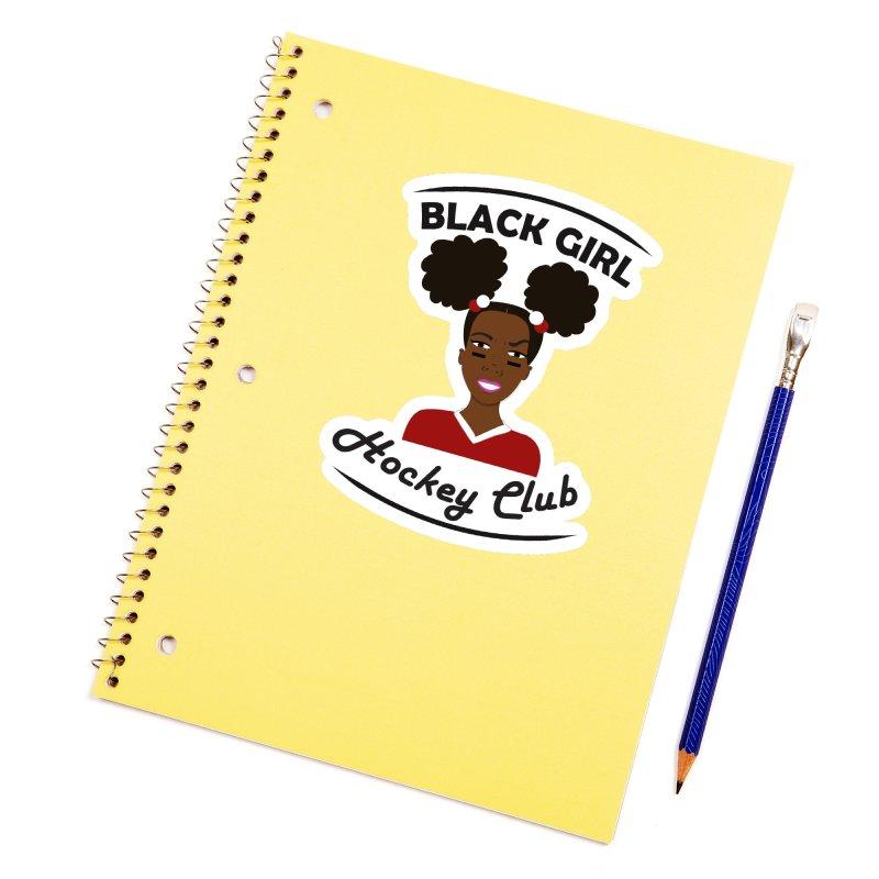 BGHC red/white Accessories Sticker by Black Girl Hockey Club's Artist Shop