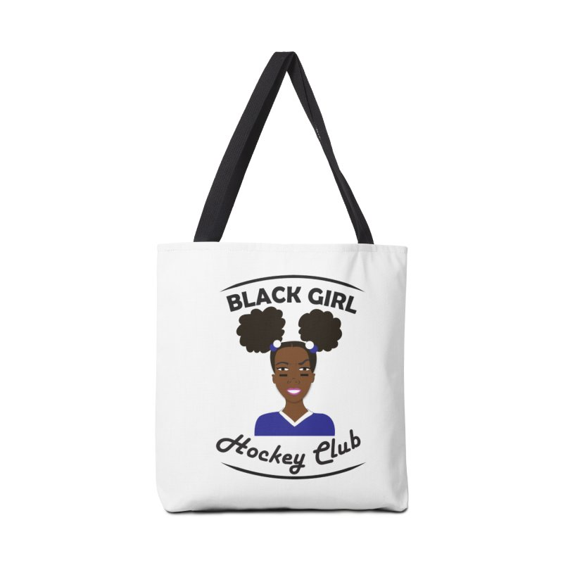 BGHC blue/white Accessories Tote Bag Bag by Black Girl Hockey Club's Artist Shop