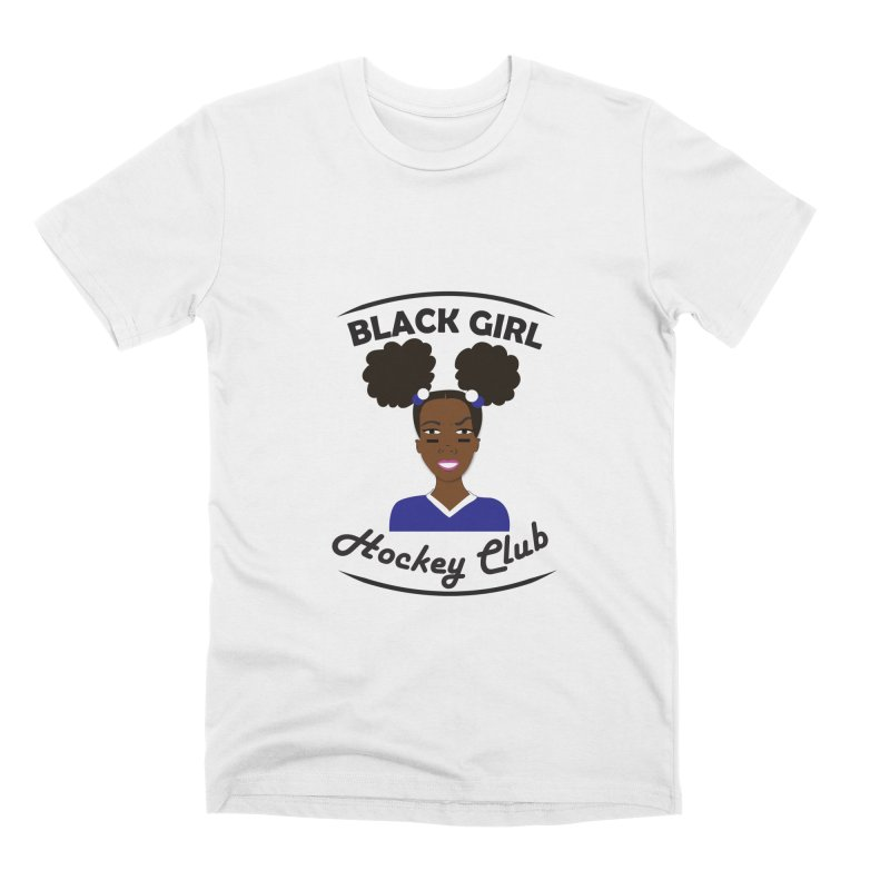 BGHC blue/white Men's T-Shirt by Black Girl Hockey Club's Artist Shop