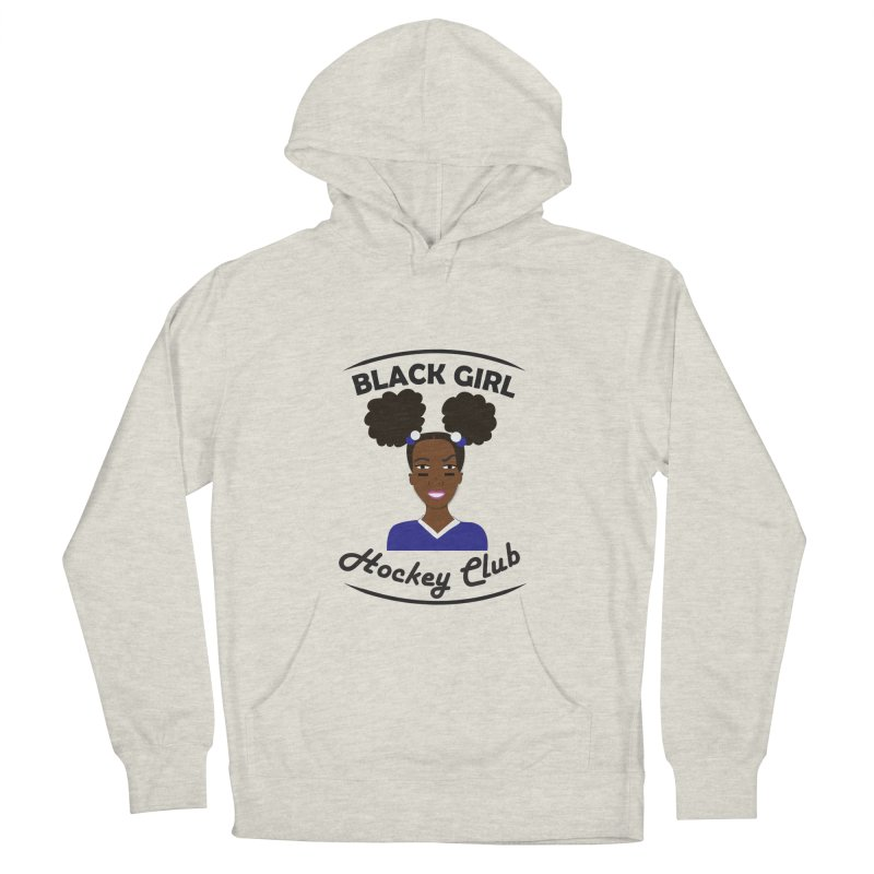 BGHC blue/white Men's French Terry Pullover Hoody by Black Girl Hockey Club's Artist Shop