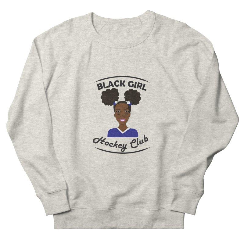 BGHC blue/white Men's Sweatshirt by Black Girl Hockey Club's Artist Shop