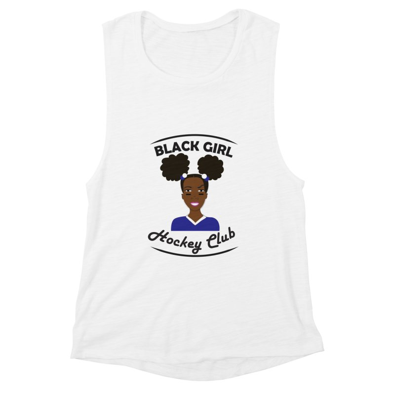 BGHC blue/white Women's Tank by Black Girl Hockey Club's Artist Shop