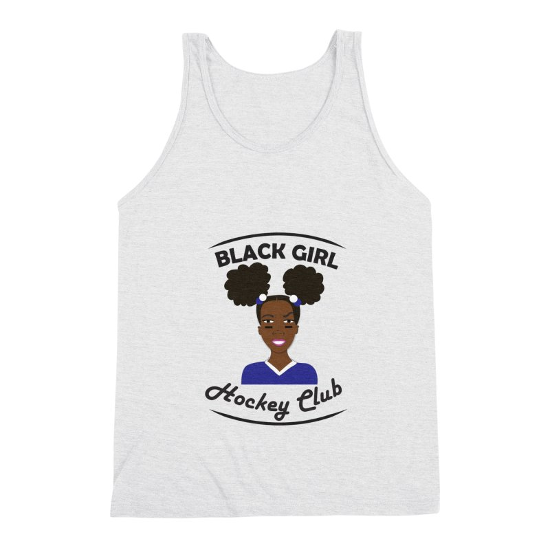 BGHC blue/white Men's Tank by Black Girl Hockey Club's Artist Shop