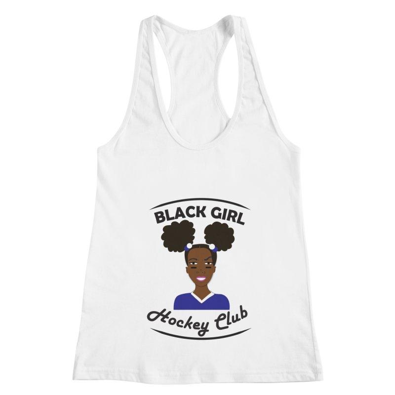 BGHC blue/white Women's Racerback Tank by Black Girl Hockey Club's Artist Shop