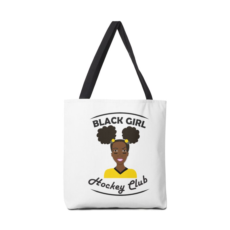 BGHC black/gold Accessories Tote Bag Bag by Black Girl Hockey Club's Artist Shop