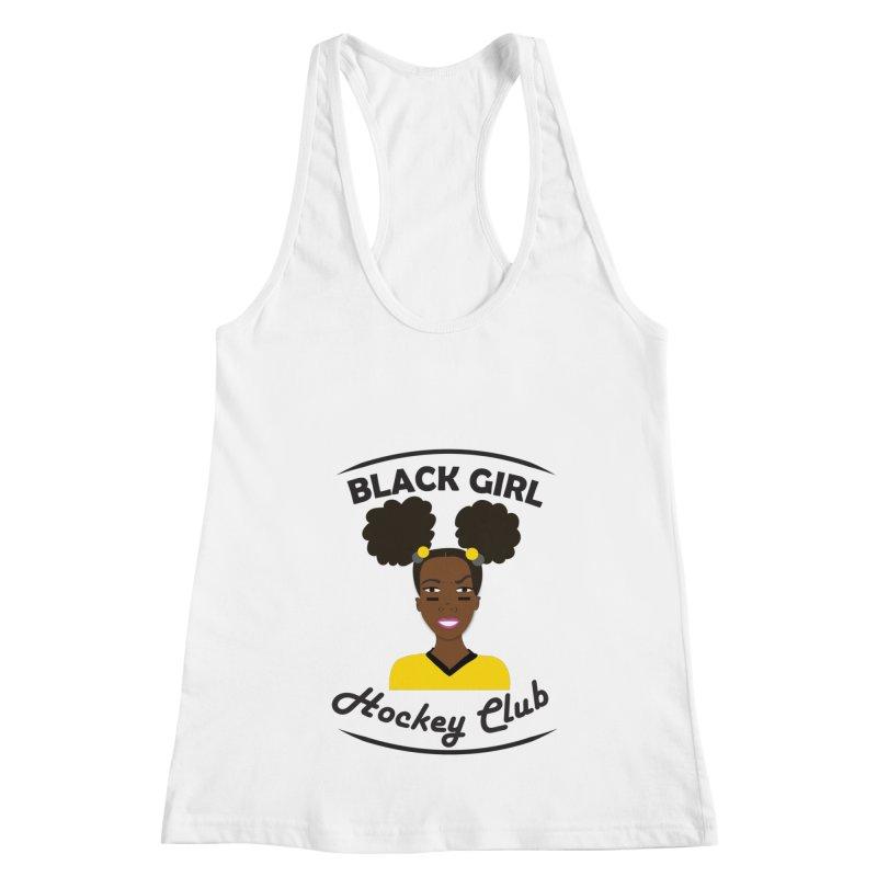 BGHC black/gold Women's Racerback Tank by Black Girl Hockey Club's Artist Shop