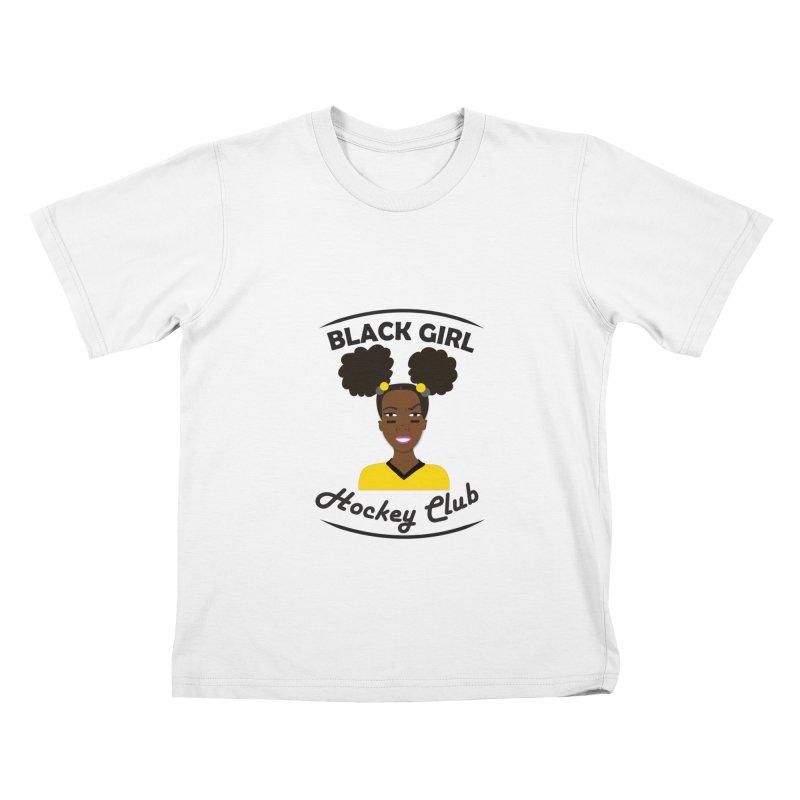 BGHC black/gold Kids T-Shirt by Black Girl Hockey Club's Artist Shop