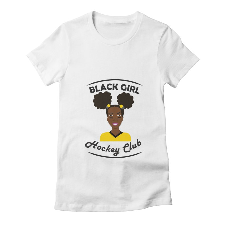 BGHC black/gold Women's T-Shirt by Black Girl Hockey Club's Artist Shop