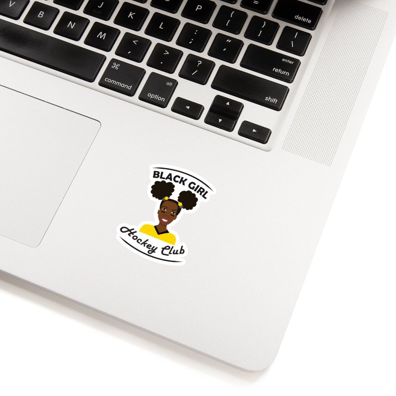 BGHC black/gold Accessories Sticker by Black Girl Hockey Club's Artist Shop
