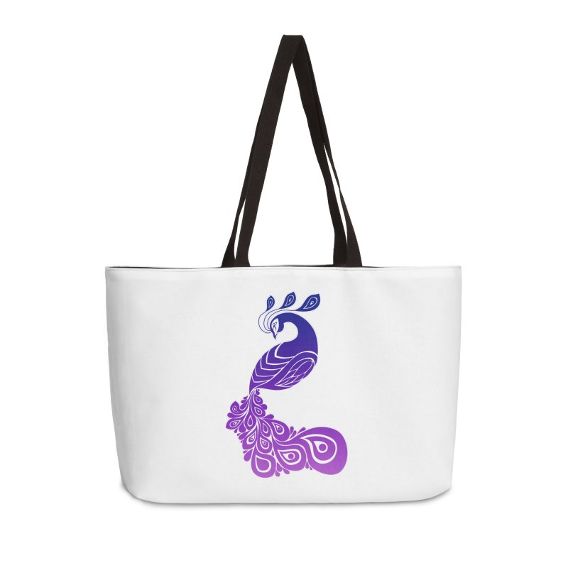 Peacock Design Accessories Bag by Black and White Shop