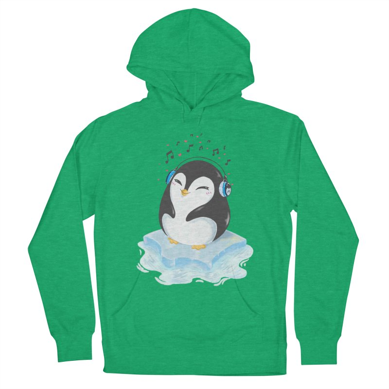 Penguin Women's Pullover Hoody by Black and White Shop