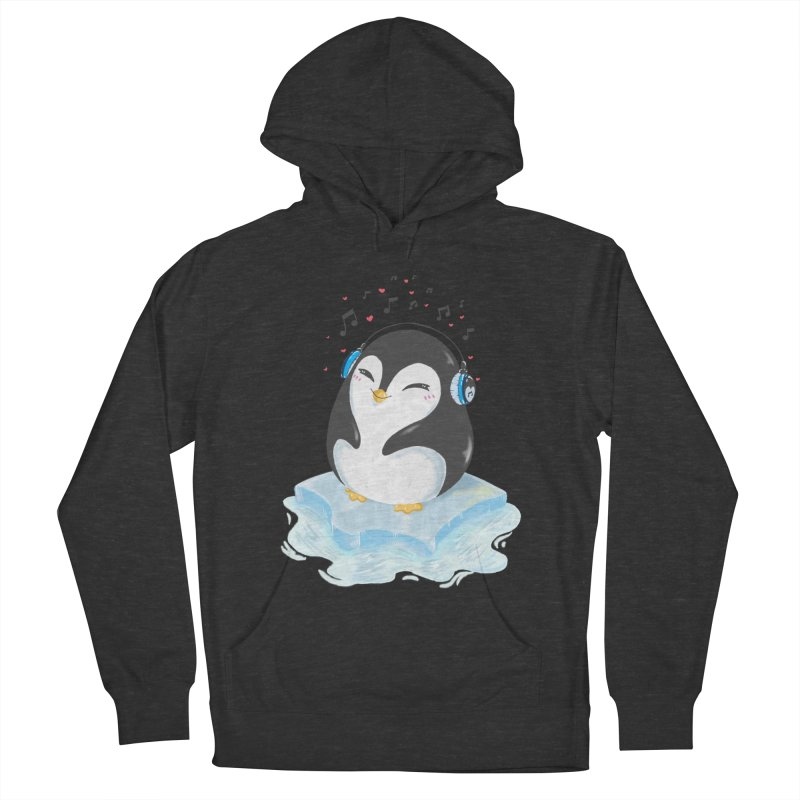 Penguin Women's French Terry Pullover Hoody by Black and White Shop