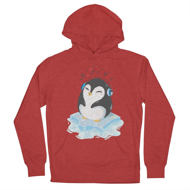 Penguin Men's French Terry Pullover Hoody by Black and White Shop