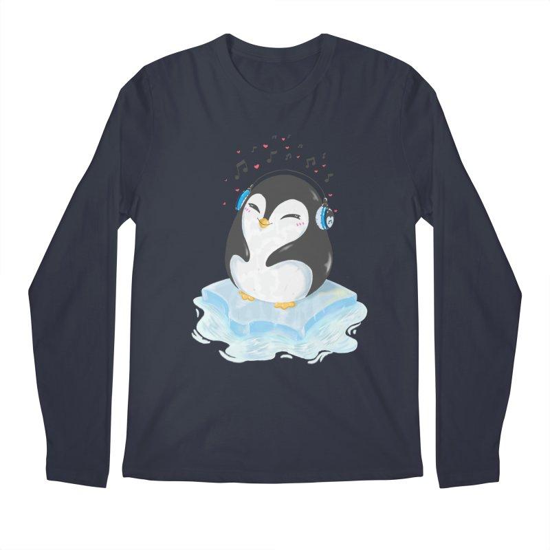 Penguin Men's Longsleeve T-Shirt by Black and White Shop