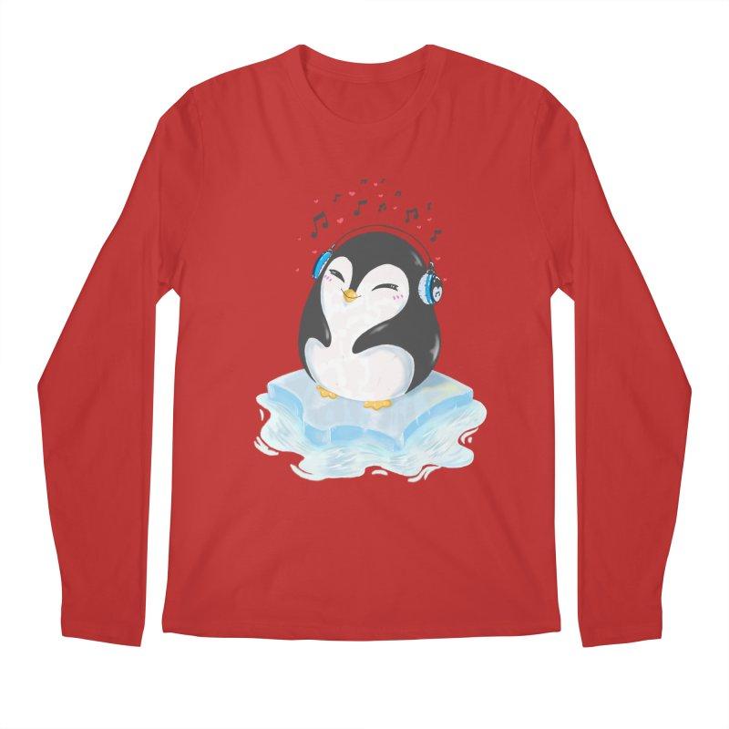Penguin Men's Regular Longsleeve T-Shirt by Black and White Shop