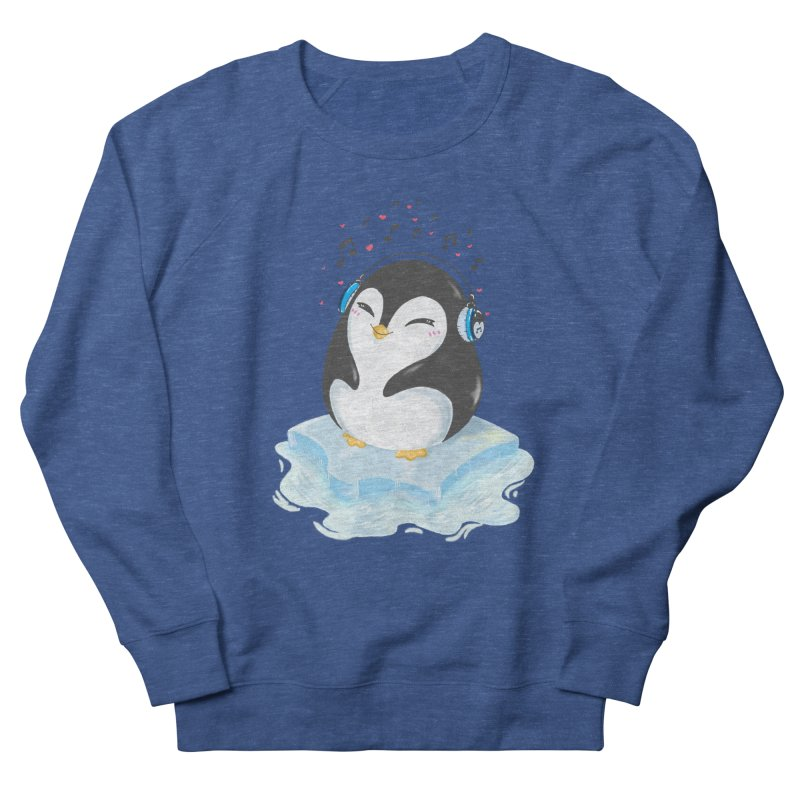 Penguin Men's French Terry Sweatshirt by Black and White Shop