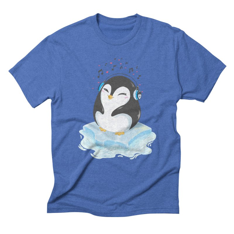 Penguin Men's Triblend T-Shirt by Black and White Shop