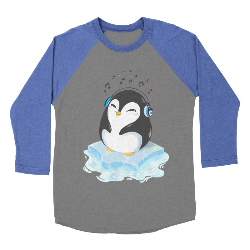 Penguin Men's Baseball Triblend T-Shirt by Black and White Shop
