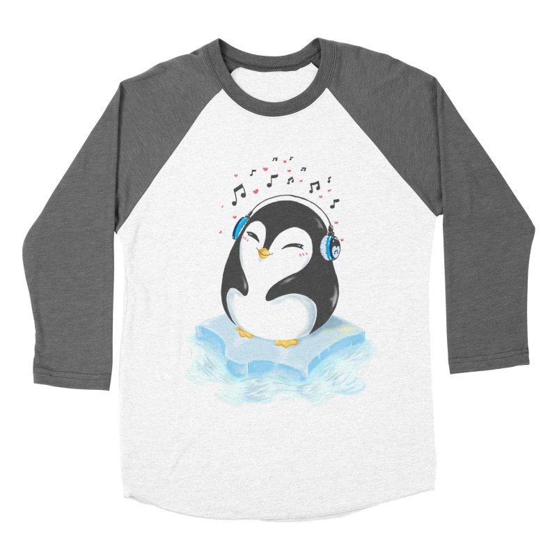 Penguin Men's Baseball Triblend Longsleeve T-Shirt by Black and White Shop