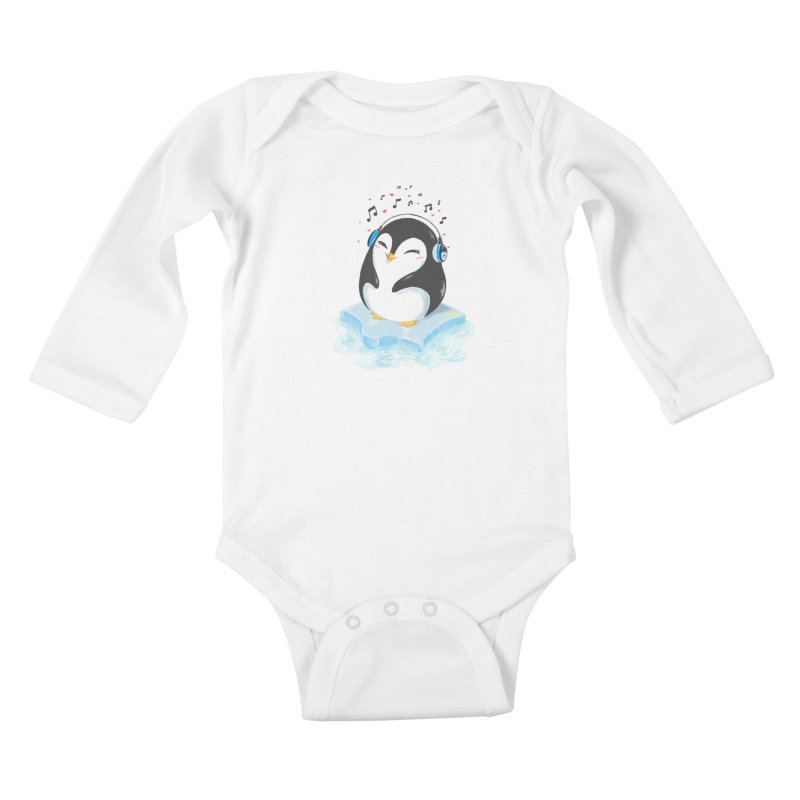 Penguin Kids Baby Longsleeve Bodysuit by Black and White Shop