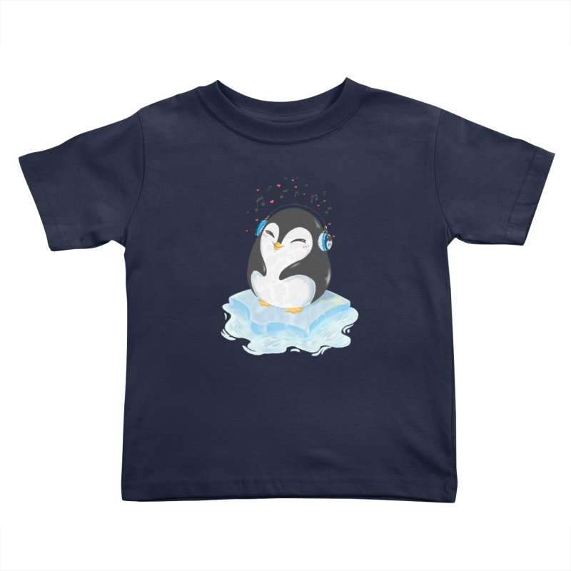 Penguin Kids Toddler T-Shirt by Black and White Shop