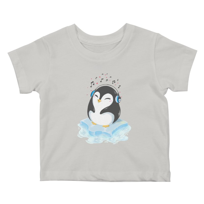 Penguin Kids Baby T-Shirt by Black and White Shop