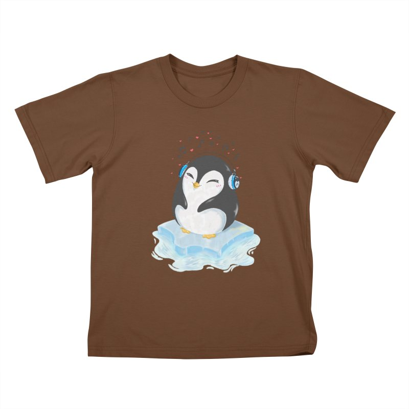 Penguin Kids T-shirt by Black and White Shop