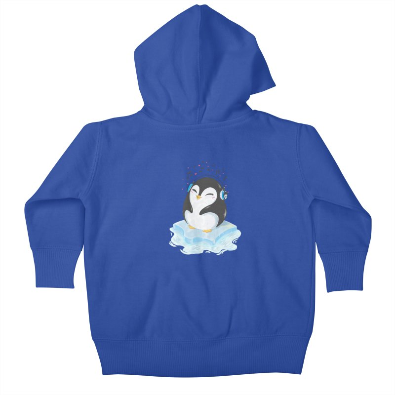 Penguin Kids Baby Zip-Up Hoody by Black and White Shop