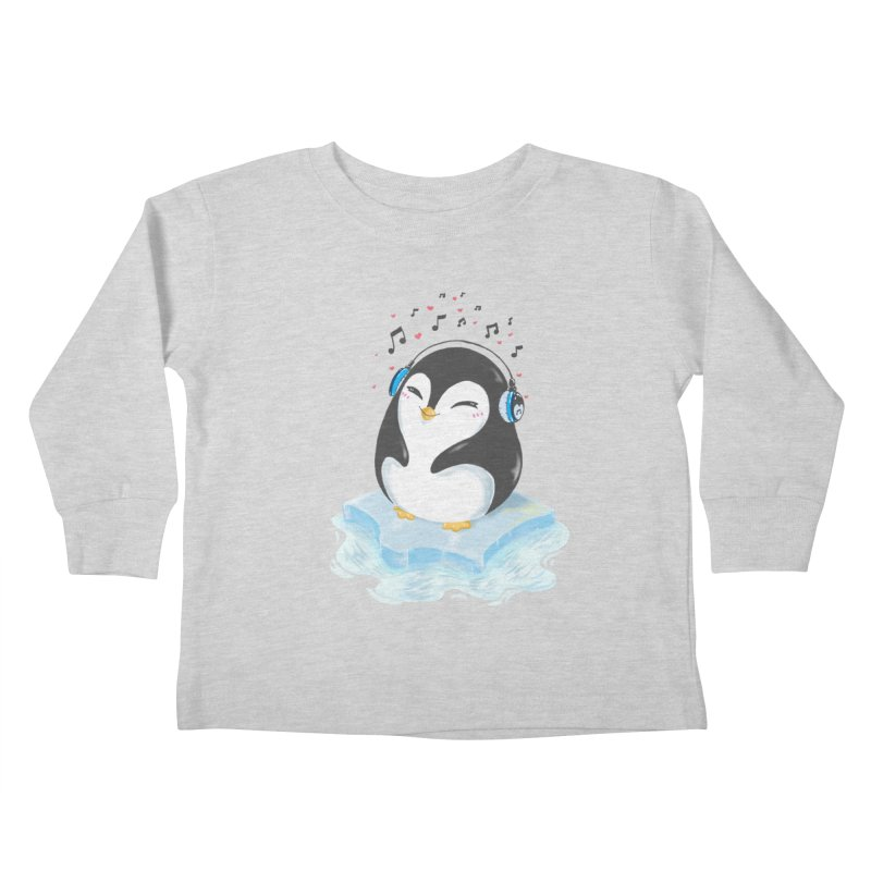 Penguin Kids Toddler Longsleeve T-Shirt by Black and White Shop