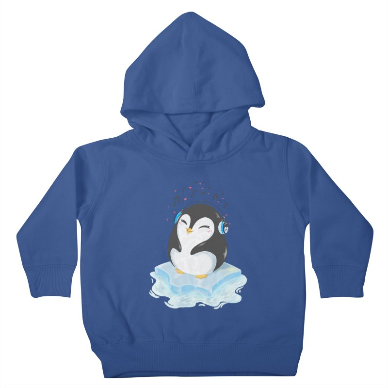 Penguin Kids Toddler Pullover Hoody by Black and White Shop
