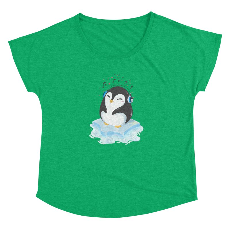 Penguin Women's Dolman Scoop Neck by Black and White Shop